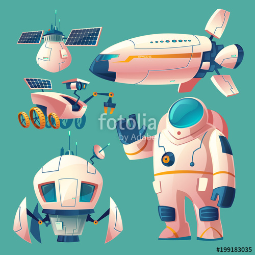 Vector cartoon with objects. Battery clipart solar battery
