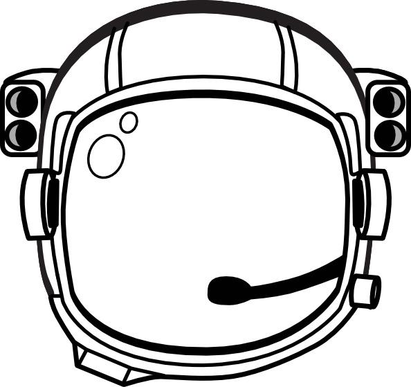 S helmet clip free. Astronaut clipart line art