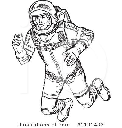 Astronaut clipart line art. Illustration by bestvector royaltyfree
