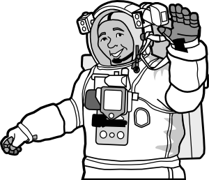 Smiling clip at clker. Astronaut clipart line art