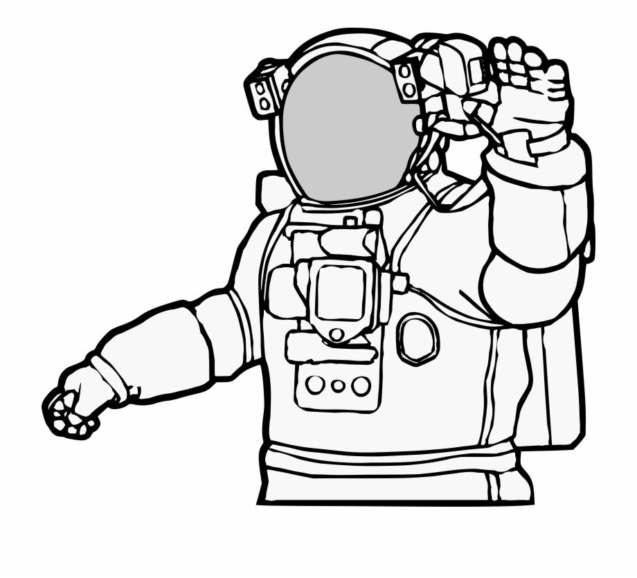 Realistic clip library . Astronaut clipart line art
