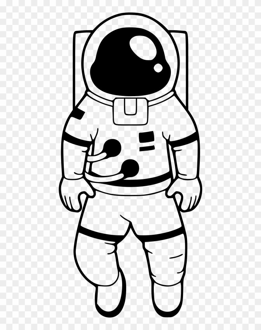 Png download clip black. Astronaut clipart line art