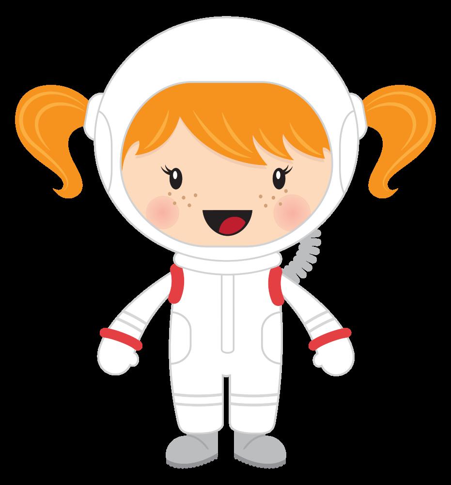 Onlinelabels clip art little. Girls clipart astronaut