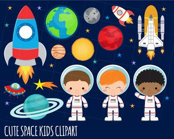 Space outer alien . Clipart rocket astronaut