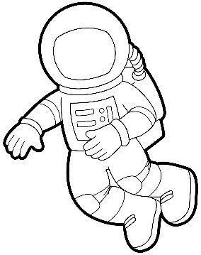 Astronaut clipart outline. Printable templates vil g