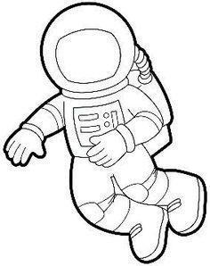 Astronaut clipart outline. Printable templates kids space