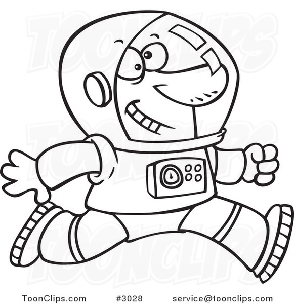 Line drawing at getdrawings. Astronaut clipart outline