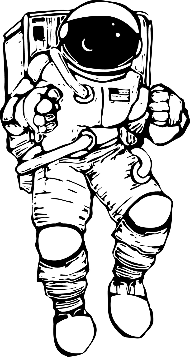 collection of drawing. Astronaut clipart outline