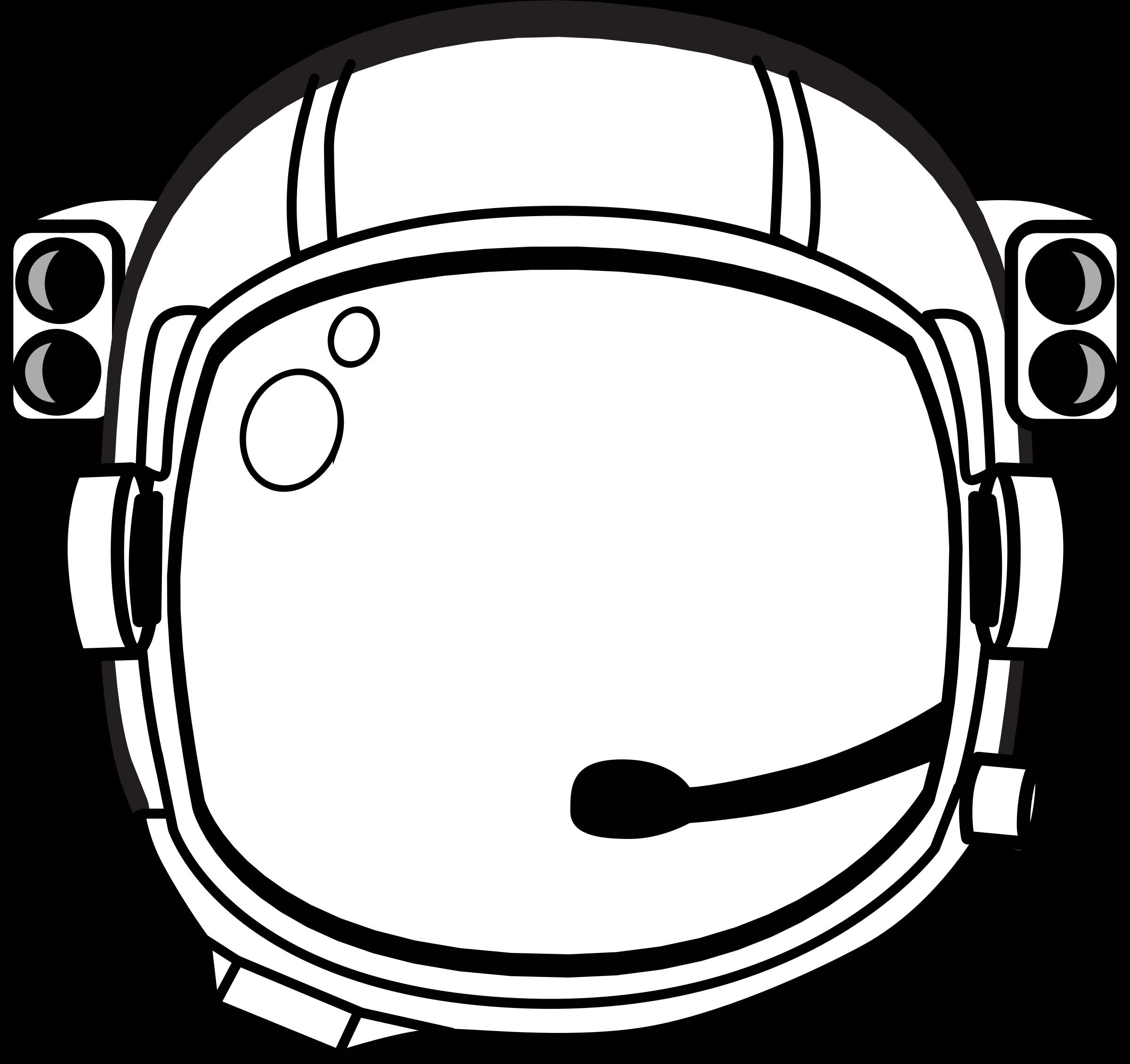 Astronaut clipart outline. S helmet big image