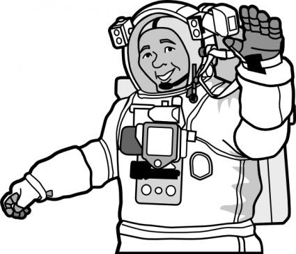 Panda free images clip. Astronaut clipart outline