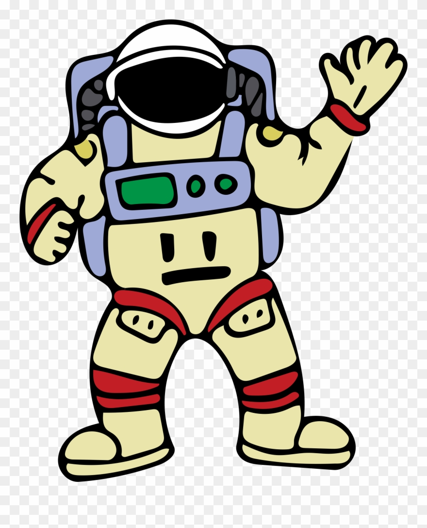 Big image picture of. Astronaut clipart outline