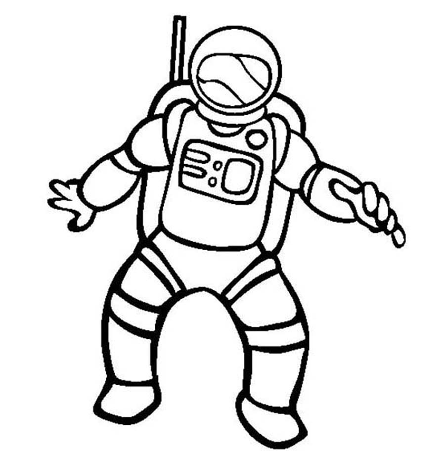 Astronaut clipart outline. Black and white pencil