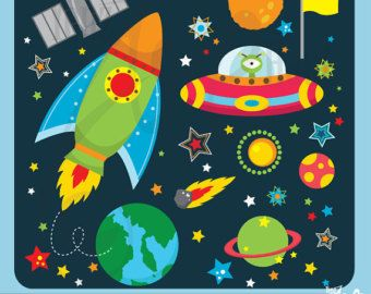 Astronaut clip art by. Planets clipart space theme