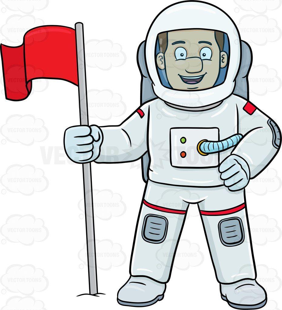 A male smiles after. Astronaut clipart preschool