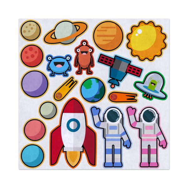 Space explorers felt storyboard. Astronaut clipart preschool