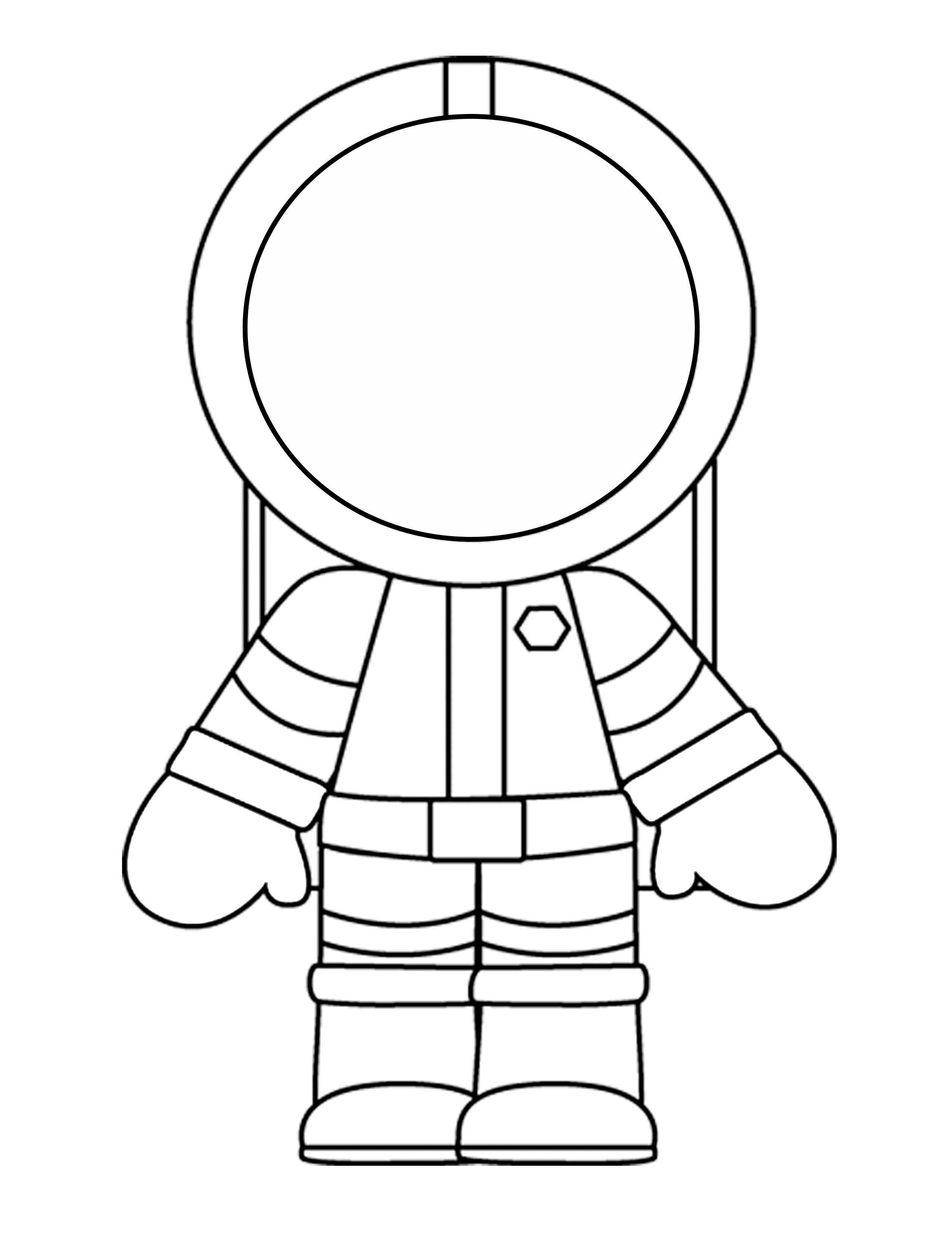 Astronaut clipart printable. Template for the mini