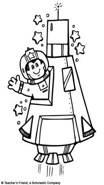 Rocket ship and clip. Astronaut clipart printable