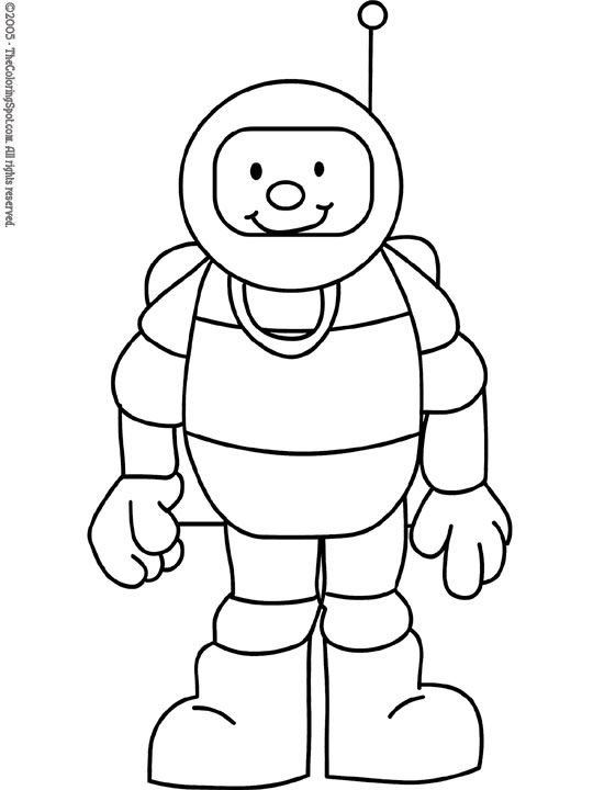 Astronaut clipart printable. Kids free coloring pages