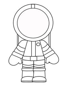 Astronaut clipart printable. Template for the crafts