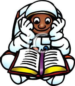 Astronaut reading
