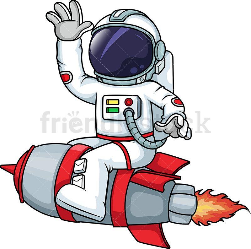 Astronaut on a rocketship. Future clipart rocket scientist