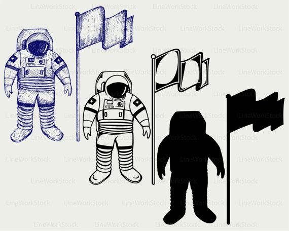 Astronaut clipart silhouette. Cosmonaut svg human person