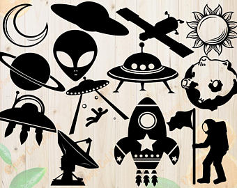 Drawing etsy spacecraft svg. Astronaut clipart silhouette
