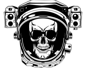 Etsy skull svg space. Astronaut clipart silhouette