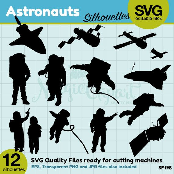 best people silhouettes. Astronaut clipart silhouette