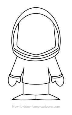 Astronaut clipart simple. Drawing at getdrawings com