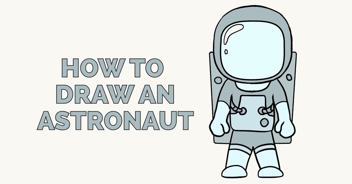 How to draw an. Astronaut clipart simple
