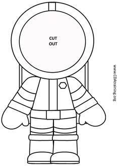 astronaut clipart template