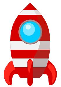 Clipart rocket astronaut. Cartoon of a waving