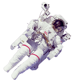 Astronaut clipart transparent background. In space png stickpng