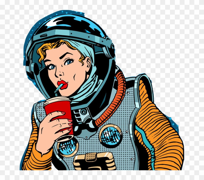 Pop art character png. Astronaut clipart vintage