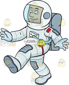 A male enjoys him. Astronaut clipart walking
