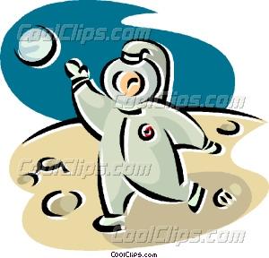 Astronaut clipart walking. On the moon vector