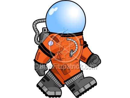 Clip art of a. Astronaut clipart walking