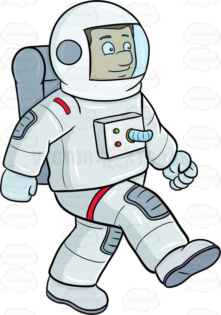 Astronaut clipart walking. Free download clip art