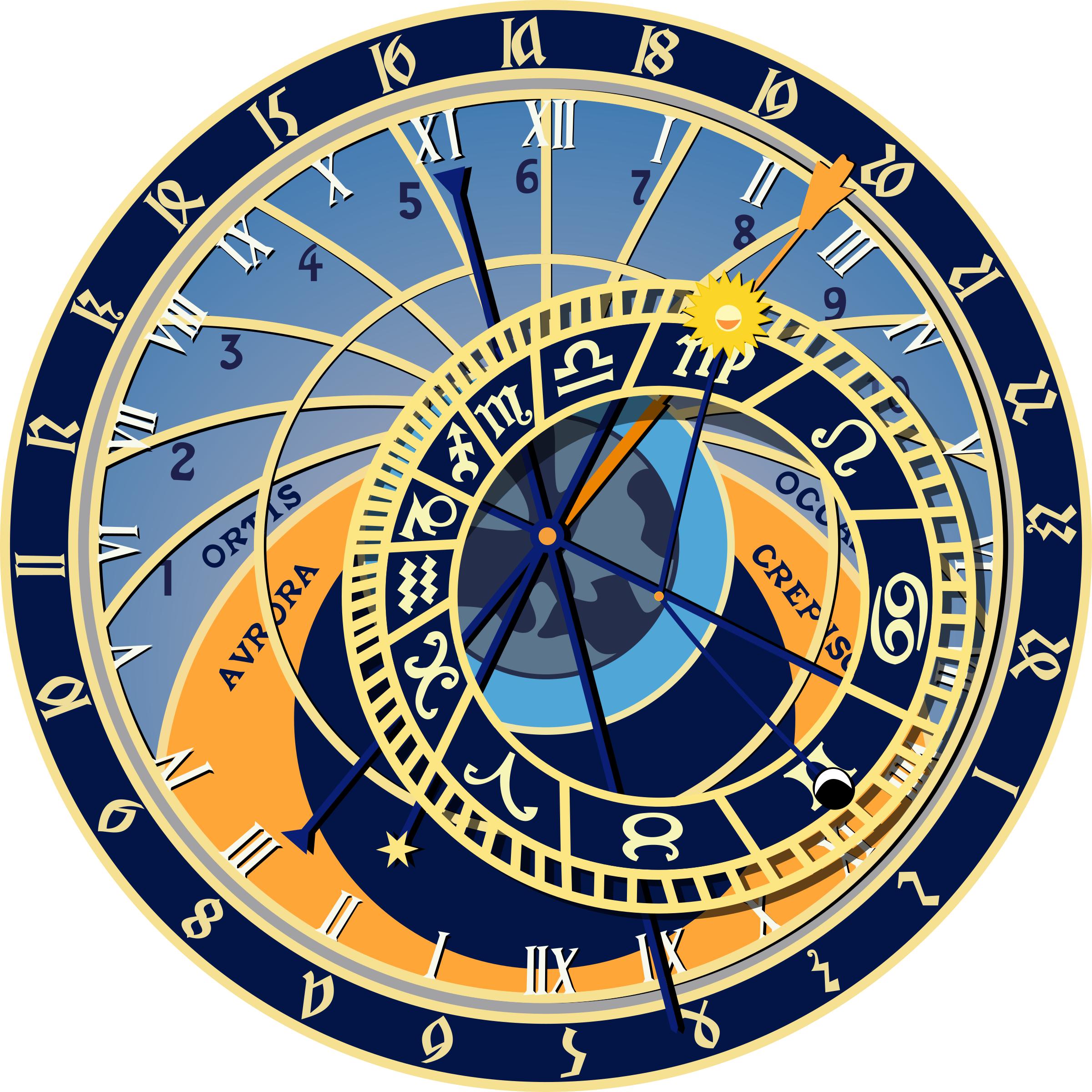 Astronomy clipart astronomer. Prague astronomical clock big