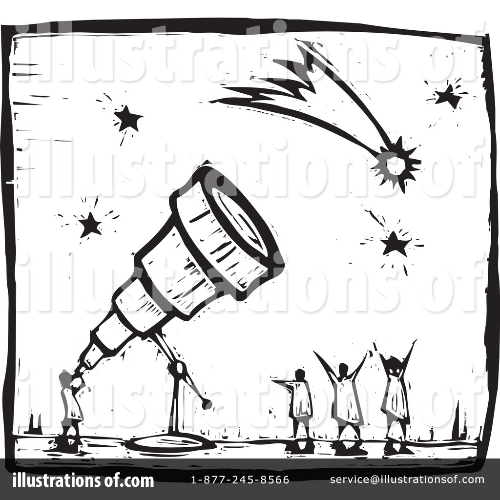 Astronomy clipart black and white. Illustration by xunantunich royaltyfree