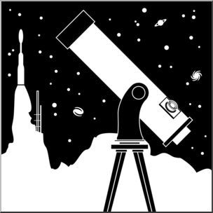 Portal . Astronomy clipart black and white