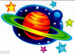 Astronomy clipart border.  planets stars space