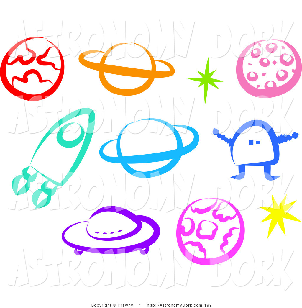 Astronomy clipart colorful. Clip art of a