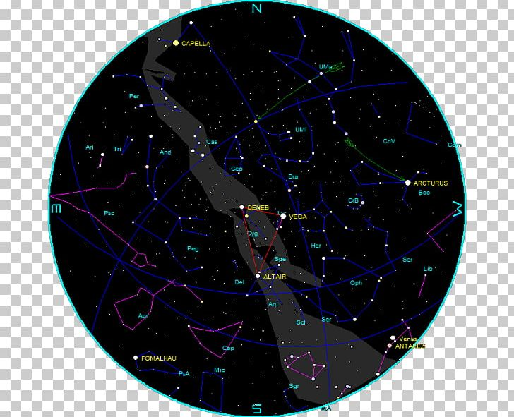 Night sky star chart. Astronomy clipart constellation