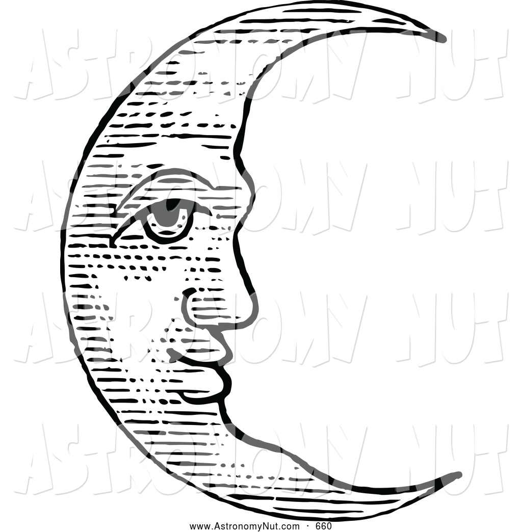Royalty free stock designs. Astronomy clipart crescent moon