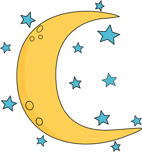 And stars clip art. Astronomy clipart crescent moon