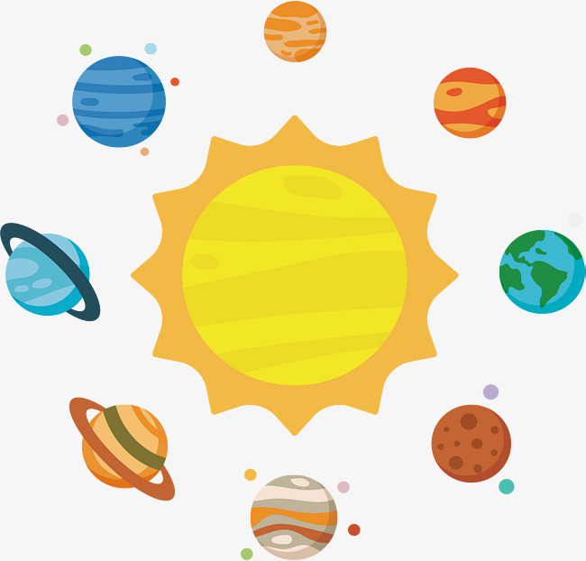 Solar system vector png. Astronomy clipart cute