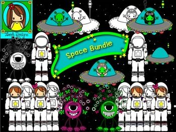 Astronomy clipart cute. Fun space bundle science