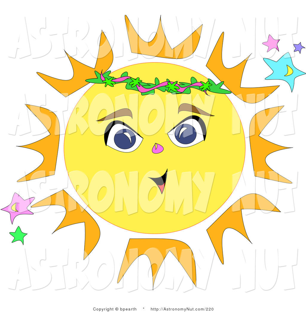 Of a bright yellow. Astronomy clipart cute